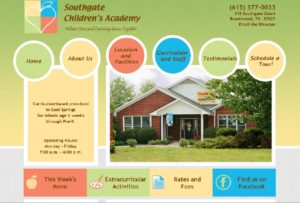 Daycare website Nashville Web Design wordpress